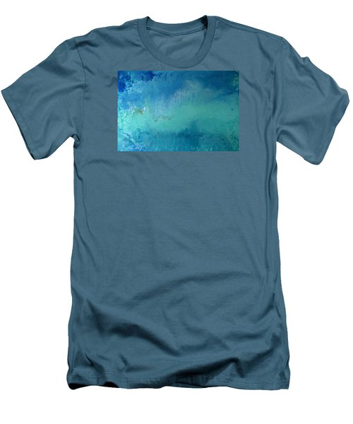 Turquoise Ocean Men's T-Shirt (Athletic Fit)