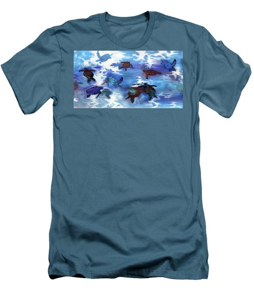 Turtles In Heaven Men's T-Shirt (Athletic Fit)