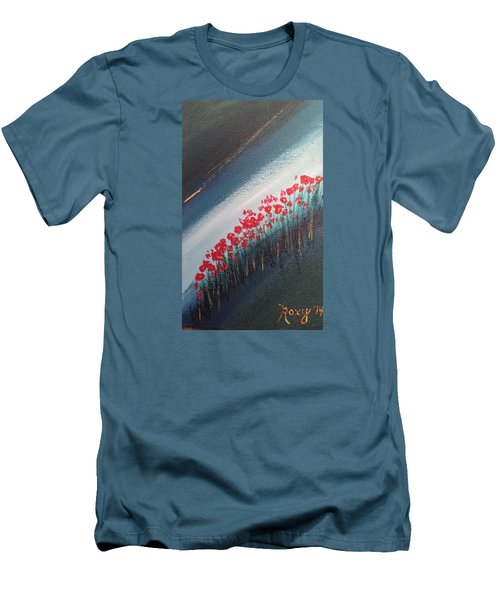 Twilight Poppies Men's T-Shirt (Athletic Fit)
