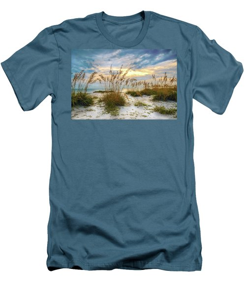 Twilight Sea Oats Men's T-Shirt (Athletic Fit)