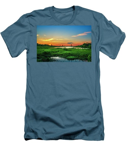 Men's T-Shirt (Slim Fit) featuring the photograph Twilights Arrival by Marvin Spates