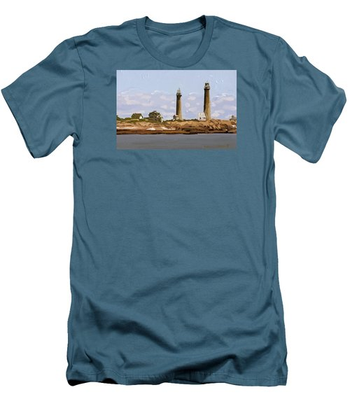 Twin Lights, Thatcher's Island, Rockport, Ma Men's T-Shirt (Athletic Fit)