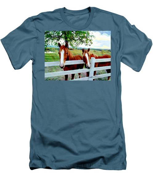 Twin Ponies Men's T-Shirt (Athletic Fit)