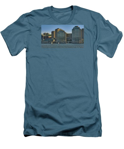 Twin Purdy Towers Of Halifax Men's T-Shirt (Slim Fit) by Ken Morris