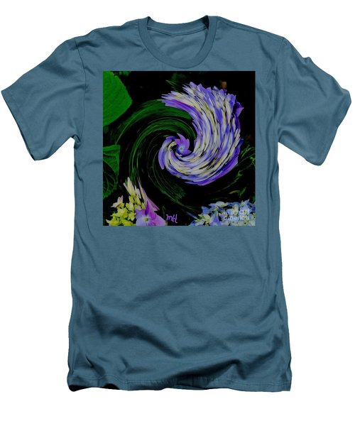 Men's T-Shirt (Slim Fit) featuring the digital art Twirly Birdy by Marsha Heiken