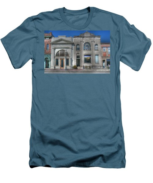 Two Banks Men's T-Shirt (Slim Fit) by David Bearden