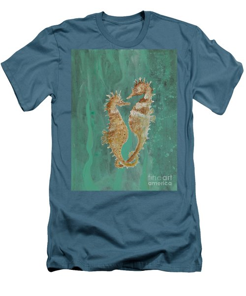 Two Seahorse Lovers Men's T-Shirt (Athletic Fit)