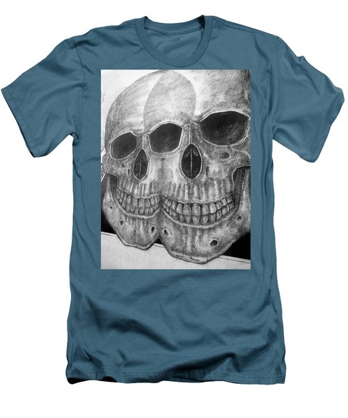 Men's T-Shirt (Slim Fit) featuring the photograph Two Skulls ... by Juergen Weiss