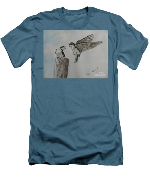 Two Swallows Men's T-Shirt (Athletic Fit)