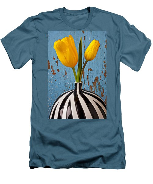 Two Yellow Tulips Men's T-Shirt (Athletic Fit)