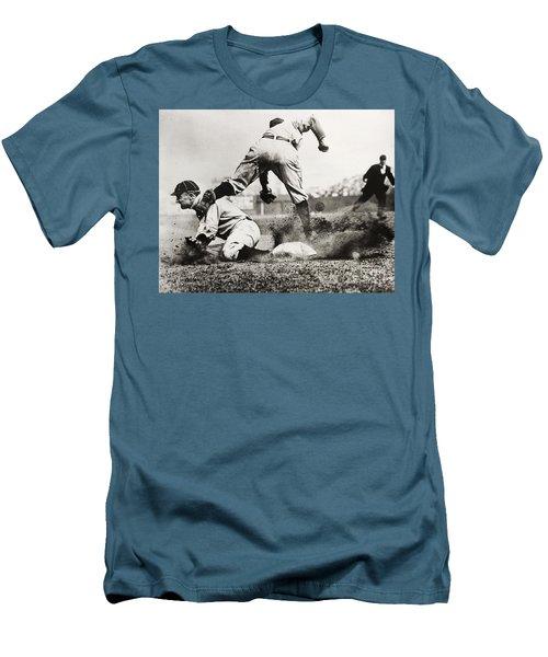 Ty Cobb Gets A Triple Men's T-Shirt (Athletic Fit)