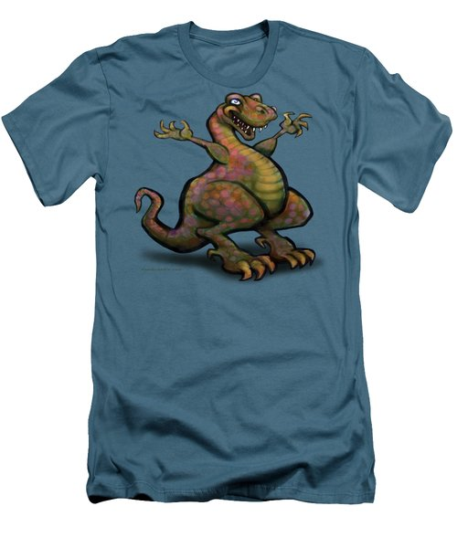 Men's T-Shirt (Slim Fit) featuring the digital art Tyrannosaurus Rex by Kevin Middleton