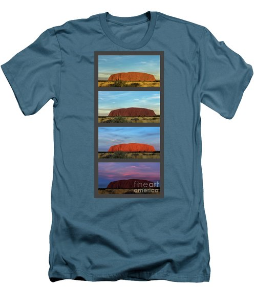 Men's T-Shirt (Athletic Fit) featuring the photograph Uluru Sunset by Werner Padarin
