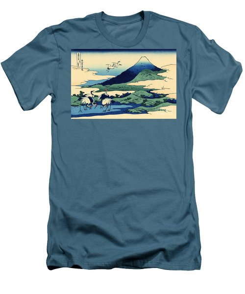 Umegawa In Sagami Province, One Of Thirty Six Views Of Mount Fuji Men's T-Shirt (Slim Fit) by Hokusai