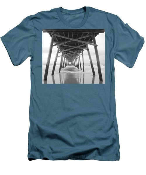 Under The Pier Men's T-Shirt (Slim Fit) by Betty Buller Whitehead