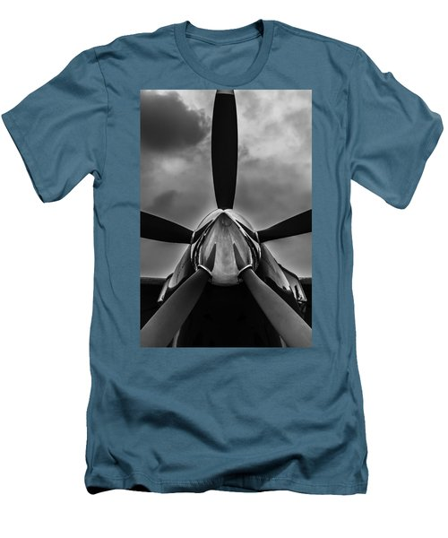 Men's T-Shirt (Slim Fit) featuring the photograph Unflyable Weather by Alexander Senin