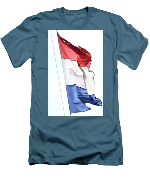 Men's T-Shirt (Athletic Fit) featuring the photograph Unfurl 02 by Stephen Mitchell