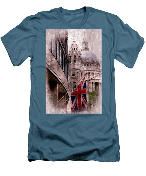 Union Jack By St. Paul's Cathdedral Men's T-Shirt (Slim Fit) by Karen McKenzie McAdoo