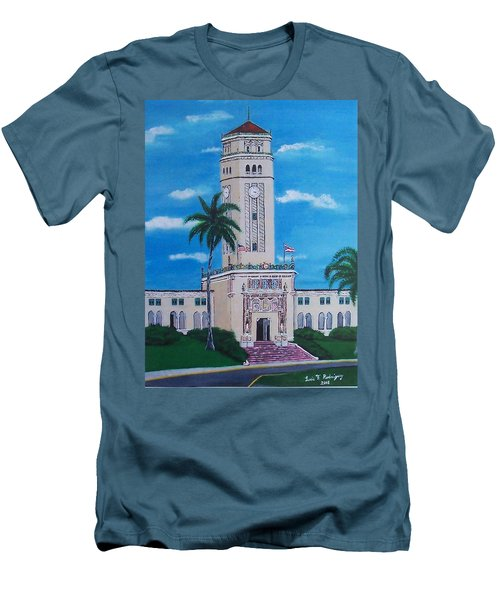 University Of Puerto Rico Tower Men's T-Shirt (Slim Fit) by Luis F Rodriguez