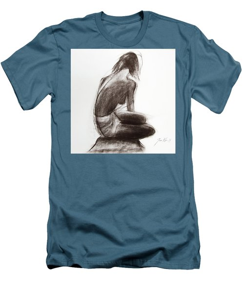 Men's T-Shirt (Slim Fit) featuring the painting Until The Sea Shall Free Them by Jarko Aka Lui Grande