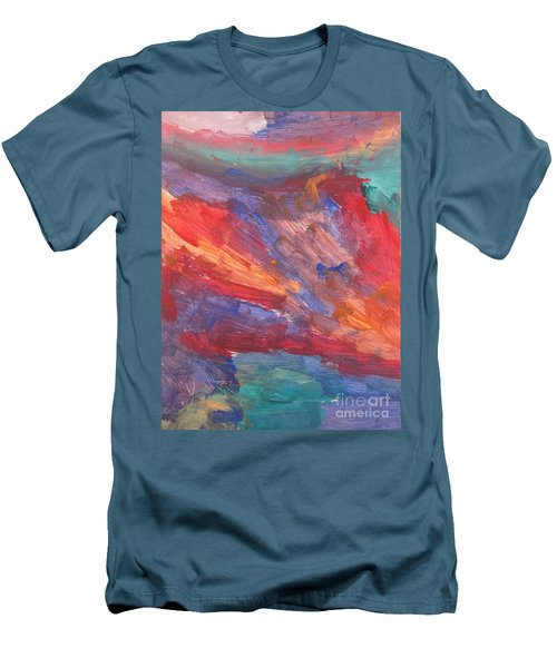 Untitled 95 Original Painting Men's T-Shirt (Athletic Fit)