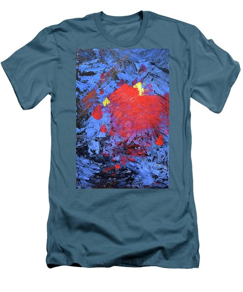 Untitled Abstract-7-817 Men's T-Shirt (Slim Fit)