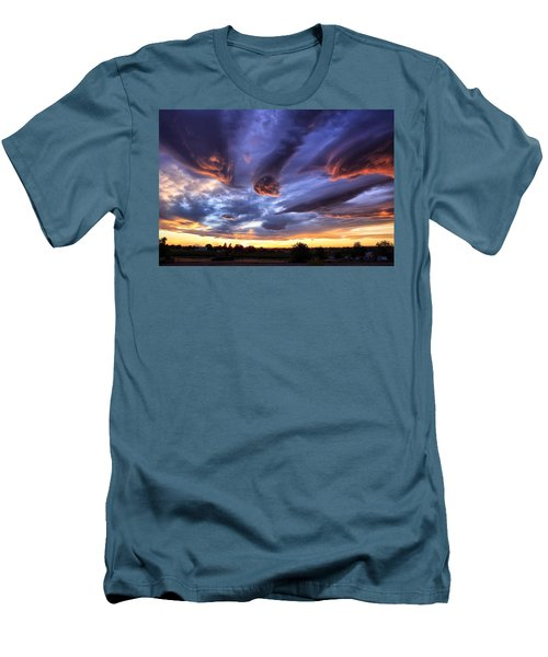 Alien Cloud Formations Men's T-Shirt (Slim Fit) by Lynn Hopwood