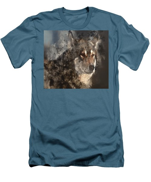 Men's T-Shirt (Slim Fit) featuring the digital art Unwavering Loyalty by Elaine Ossipov