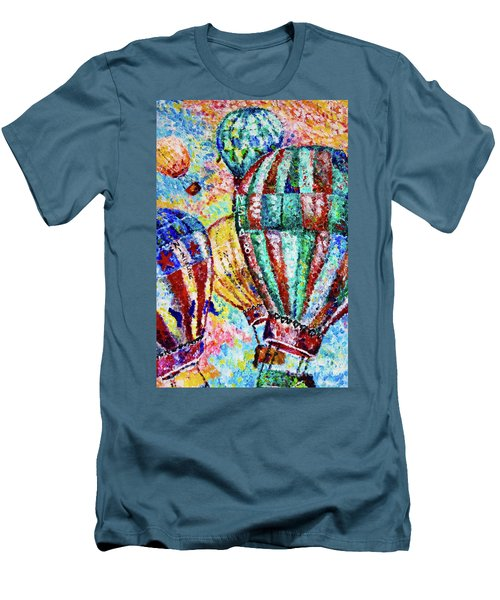 Men's T-Shirt (Slim Fit) featuring the painting Up by Colleen Kammerer