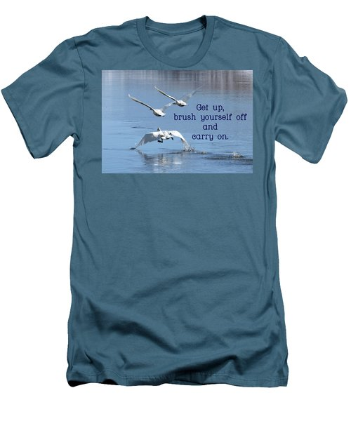 Up, Up And Away Carry On Men's T-Shirt (Slim Fit) by DeeLon Merritt