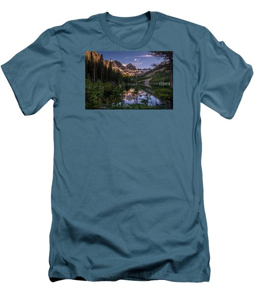 Upper Slate Lake Evening Glow Men's T-Shirt (Athletic Fit)