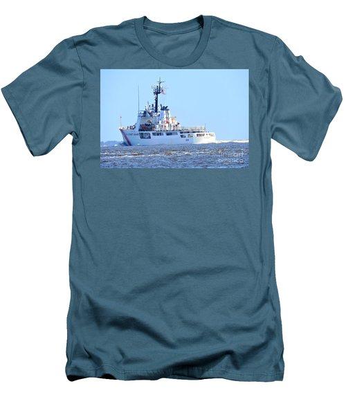 Us Coast Guard  - Diligence Men's T-Shirt (Slim Fit) by Shelia Kempf