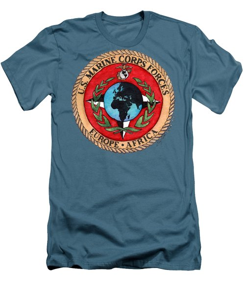 U.s. Marine Corps Forces Europe - Africa Men's T-Shirt (Athletic Fit)