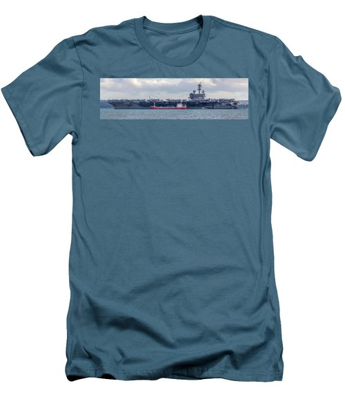Uss George H.w Bush. Men's T-Shirt (Athletic Fit)
