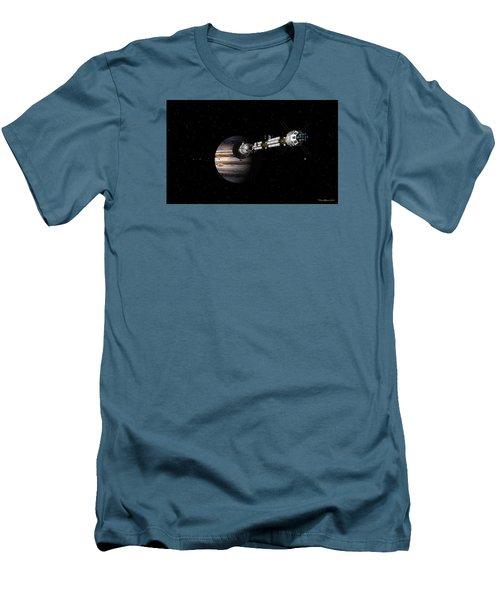 Uss Savannah Approaching Jupiter Men's T-Shirt (Athletic Fit)