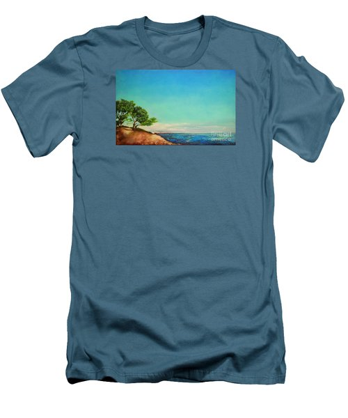 Men's T-Shirt (Slim Fit) featuring the painting Vacanza Permanente by Maja Sokolowska