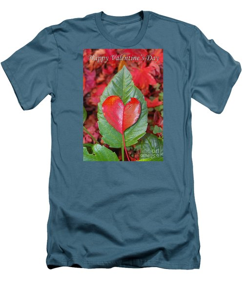 Men's T-Shirt (Slim Fit) featuring the photograph Valentine's Day Nature Card by Debra Thompson