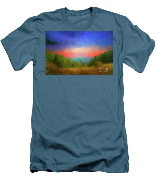 Valley In The Cove Men's T-Shirt (Slim Fit) by Geraldine DeBoer