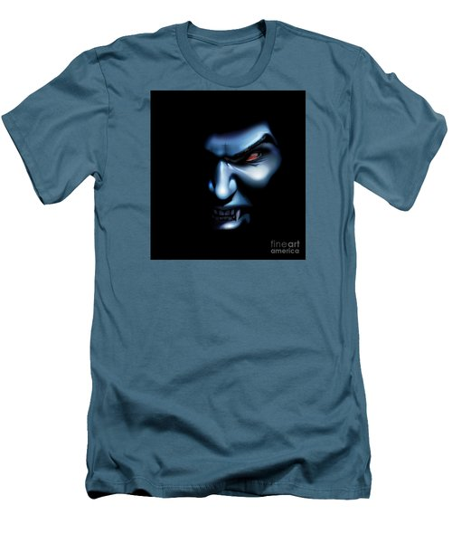 Men's T-Shirt (Slim Fit) featuring the drawing Vampires Rage by Brian Gibbs