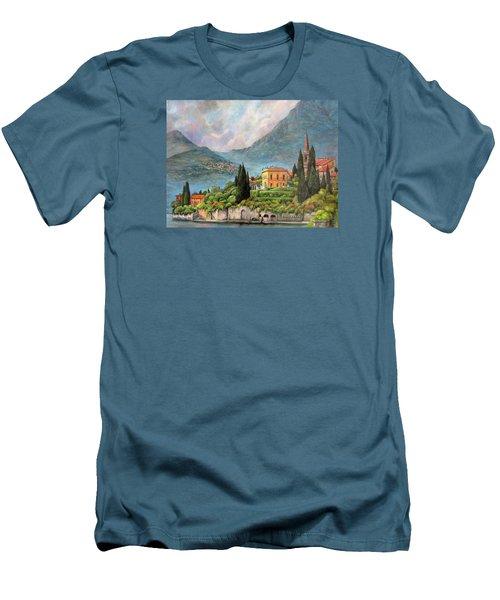Varenna Italy Men's T-Shirt (Slim Fit) by Donna Tucker