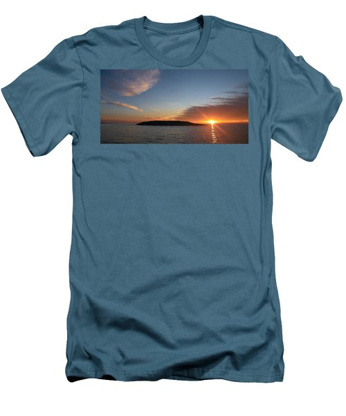 Men's T-Shirt (Slim Fit) featuring the photograph Variations Of Sunsets At Gulf Of Bothnia 3 by Jouko Lehto