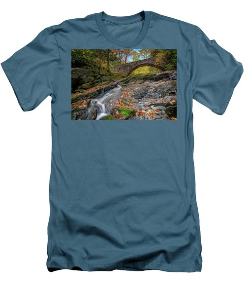 Men's T-Shirt (Athletic Fit) featuring the photograph Vaughan Brook And Arch Bridge by Rick Berk