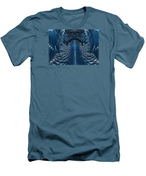 Men's T-Shirt (Slim Fit) featuring the digital art Veiled Fractal by Melissa Messick