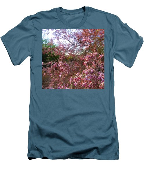 Vekol Wash Desert Ironwood In Bloom Men's T-Shirt (Athletic Fit)