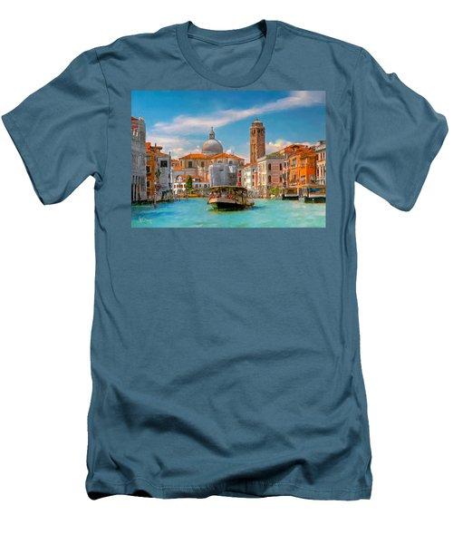Venezia. Fermata San Marcuola Men's T-Shirt (Athletic Fit)