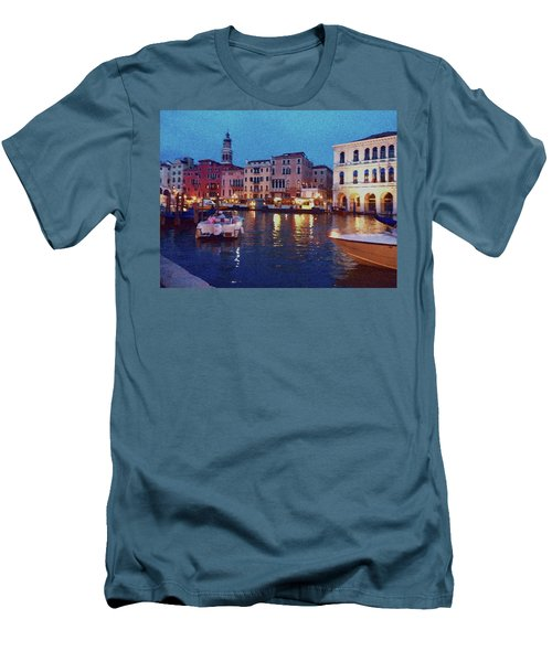 Men's T-Shirt (Athletic Fit) featuring the photograph Venice By Night by Anne Kotan