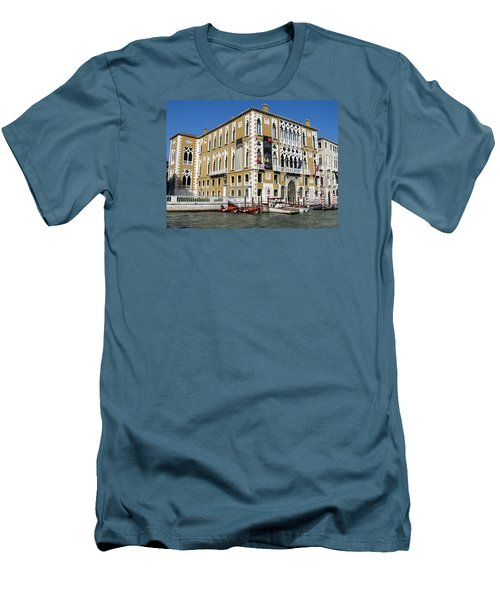 Venice Canal Building Men's T-Shirt (Slim Fit) by Lisa Boyd