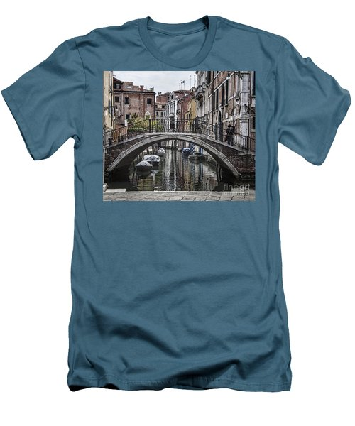 Men's T-Shirt (Slim Fit) featuring the photograph Venice Crossing by Shirley Mangini