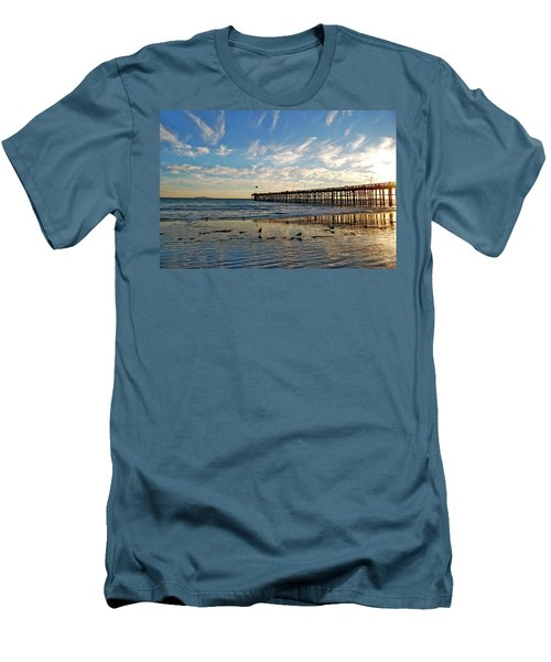Ventura Pier At Sunset Men's T-Shirt (Athletic Fit)