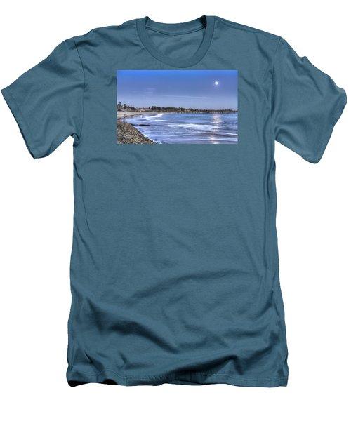 Ventura Pier Moonrise Men's T-Shirt (Slim Fit) by Joe  Palermo